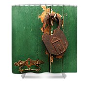 An Old Rusty Lock Shower Curtain