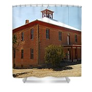 An Old School In White Oaks New Mexico Shower Curtain