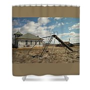 An Old School Near Miles City Montana Shower Curtain by Jeff Swan