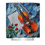 An Old Song 2 Shower Curtain