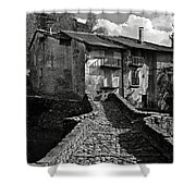An Old Spanish Town Puente De Montanana Shower Curtain