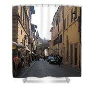 An Old Street In Assisi Italy  Shower Curtain