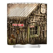 An Old Tool Shed Shower Curtain