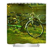 An Old Two Seater Shower Curtain