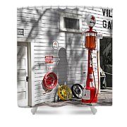 An Old Village Gas Station Shower Curtain
