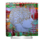 An Ordered Mind Shower Curtain