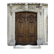An Ornate Door On The Champs Elysees In Paris France   Shower Curtain
