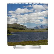 An Teallach From Loch Droma Shower Curtain