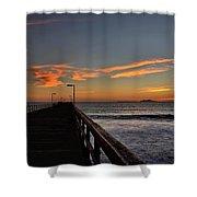 Anacapa Island Pier Shower Curtain