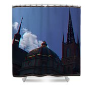 Anaglyph Church Shower Curtain