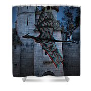 Anaglyph Dragon Shower Curtain