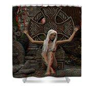 Anaglyph Elfa Shower Curtain