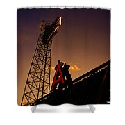 Anaheim Angels Sunset  Shower Curtain