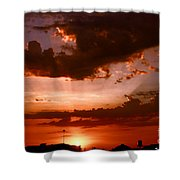 Anaheim Sunset Shower Curtain