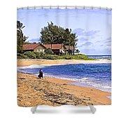 Anahola Beach Kauai Shower Curtain