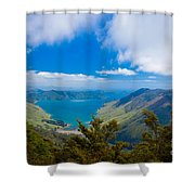 Anakoha Bay Of Marlborough Sounds In New Zealand Shower Curtain