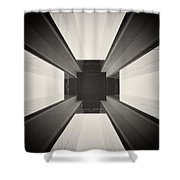 Analog Photography - Berlin Abstract Architecture Shower Curtain