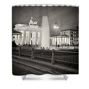 Analog Photography - Berlin Pariser Platz Shower Curtain