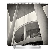 Analog Photography - Berlin Paul-loebe-haus Shower Curtain