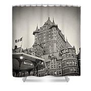 Analog Photography - Chateau Frontenac Quebec Shower Curtain