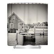 Analog Photography - Martha's Vineyard Black Dog Wharf Shower Curtain