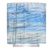 Analog Television Aerials Shower Curtain