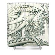 Anare'il The Chaos Dragon Shower Curtain