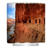 Anasazi Granaries Shower Curtain