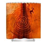 Anasazi Spirals  Shower Curtain