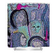 Ancestral Cave Shower Curtain