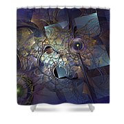 Ancestral Monolith Shower Curtain
