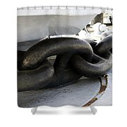 Anchor Chain 02 Queen Mary Ocean Liner Long Beach Ca Shower Curtain