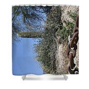 Anchor Chain In The Desert Shower Curtain