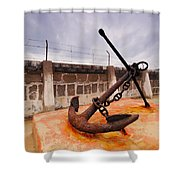 Anchor In La Canal Shower Curtain