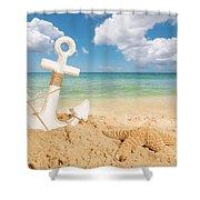 Anchor On The Beach Shower Curtain