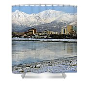 Anchorage Cityscape Shower Curtain
