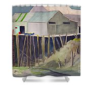 Anchorage Dock 1980s Shower Curtain