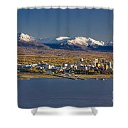 Anchorage Skyline And The Chugach Shower Curtain