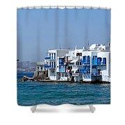 Anchored In Mykonos Shower Curtain