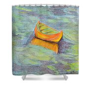 Anchored In The Shallows Shower Curtain