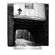 Ancient Alley In Tui Bw Shower Curtain