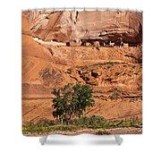 Ancient Anasazi Pueblo Canyon Dechelly Shower Curtain