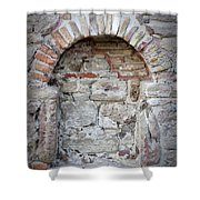 Ancient Bricked Up Window  Shower Curtain
