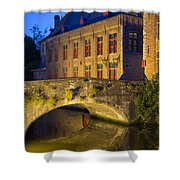 Ancient Bridge In Bruges  Shower Curtain