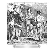 Ancient Briton, Caledonian And Irish Shower Curtain