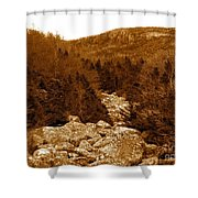 Ancient Brook - Sepia Tones Shower Curtain