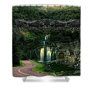 Ancient Caves And Nature Shower Curtain