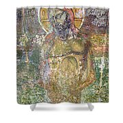 Ancient Christ Icon Shower Curtain