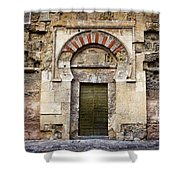 Ancient Door To The Mezquita In Cordoba Shower Curtain