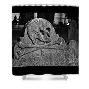 Ancient Gravestone Shower Curtain